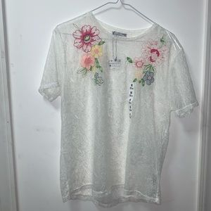 ZARA / embroidered top